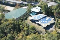 北杜市オオムラサキセンター上空写真