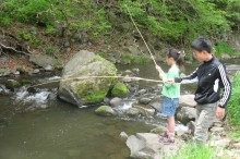 魚渓流の釣り体験
