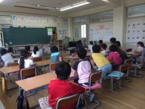 教室にムーちゃんが!