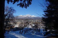 大泉冬景色